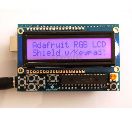 I2C LCD Shield Kit - 16x2 RGB Character Display | Display Arduino | Adafruit