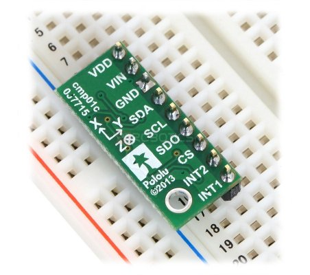 LSM303D 3D Compass and Accelerometer Carrier with Voltage Regulator | Regulador de Voltagem | Acelerómetros | Pololu