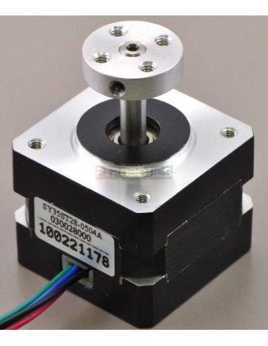 Pololu Universal Aluminum Mounting Hub for 4mm Shaft - M3 Holes | Hub's e Suportes | Pololu