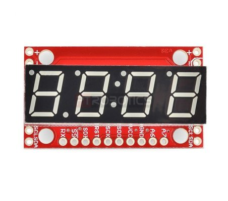 7-Segment Serial Display - Vermelho | Display 7 segmentos | Sparkfun