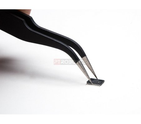 Fine tip curved tweezers - ESD safe - 120mm | Pinças para Eletrónica | Adafruit