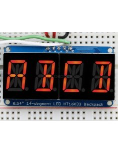 "Quad Alphanumeric Display - Red 0.54"" Digits with Backpack"
