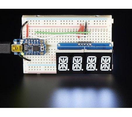 Quad Alphanumeric Display - Branco 0.54 Digits with I2C Backpack | Display 7 segmentos | Adafruit