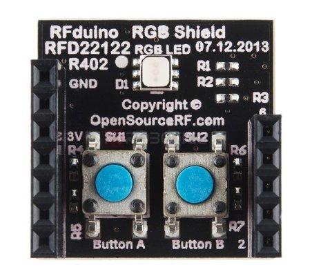 RFD22122 - RFduino - RGB/Button Shield RFDuino
