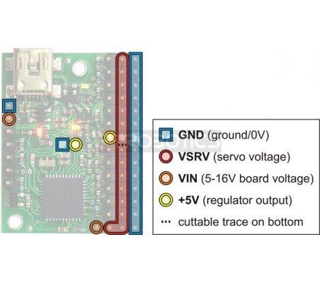Micro Maestro 6-Channel USB Servo Controller Kit Pololu