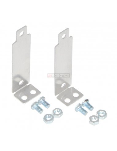 Bracket Pair for Sharp GP2Y0A02, GP2Y0A21, and GP2Y0A41 Distance Sensors - Perpendicular Pololu
