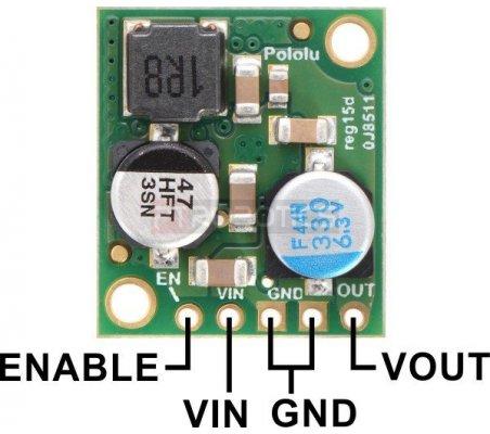 Regulador de Tensão Step-Down 5V 5A -D24V50F5 | Alimentação | Pololu