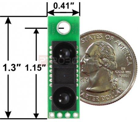 Pololu Carrier com Sharp GP2Y0A60SZLF Sensor de distância 10-150cm 5V | Sensores Ópticos | Pololu