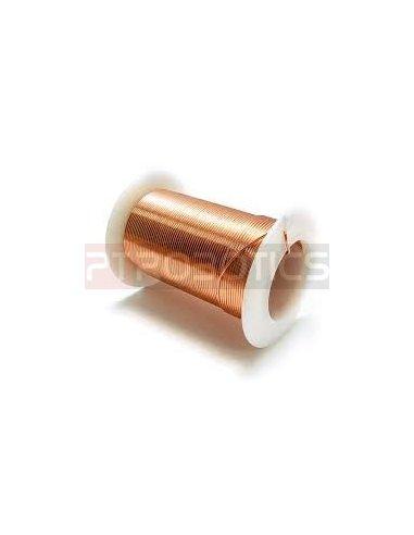 Enamelled Copper Wire Ø1mm - Spool 16m | Fio de Cobre Esmaltado e Prateado |