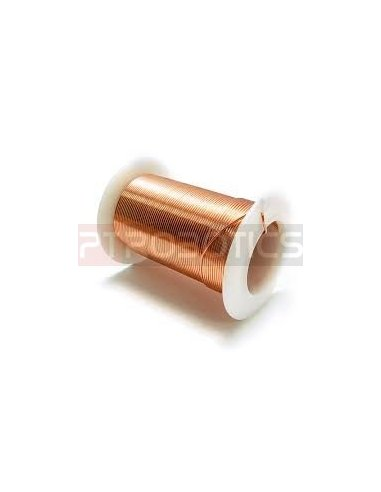 Enamelled Copper Wire Ø0.2mm - Spool 178m   Fio de Cobre Esmaltado e Prateado  