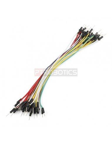 Jumper Wires Standard 14cm M/M Pack of 10 Random Color | Jumper Wires |
