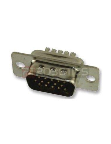 Conector D-Sub de 15 pinos VGA macho   D-Sub  