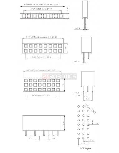 PCB Socket 9Pin Single Row | Headers e Sockets |