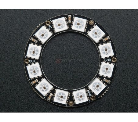 NeoPixel Ring - 12 x WS2812 5050 RGB LED with Integrated Drivers