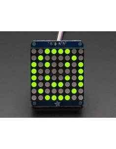 "Adafruit Small 1.2"" 8x8 LED Matrix w/I2C Backpack - Yellow-Green Adafruit"