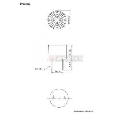 Ultrasonic Receiver 40khz 10mm