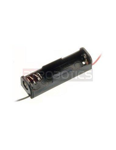 Suporte 1xAA Wire Leads | Suporte Pilhas |