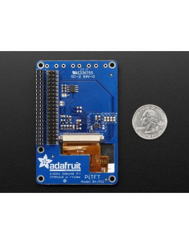 PiTFT Plus 320x240 2.8 TFT + Resistive Touchscreen for Pi 2 and Model A+ / B+ | LCD Raspberry Pi | Adafruit