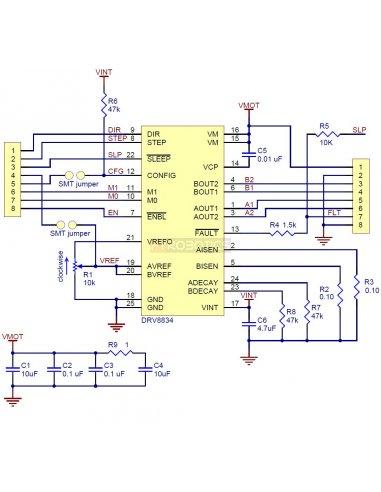 DRV8834 Low-Voltage Stepper Motor Driver Carrier