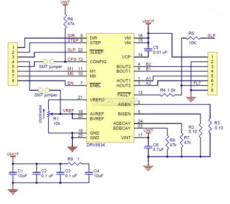 DRV8834 Low-Voltage Stepper Motor Driver Carrier Pololu