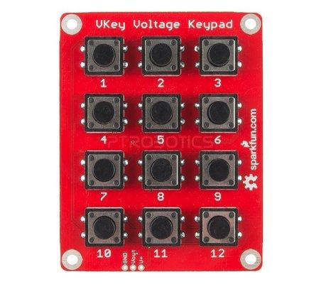 SparkFun VKey Voltage Keypad   Botões e Teclados   Sparkfun