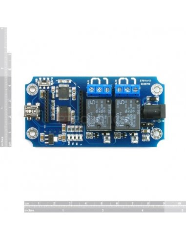 TOSR02 - 2 Channel USB/Wireless Relay Module | Relés | TiniSyne