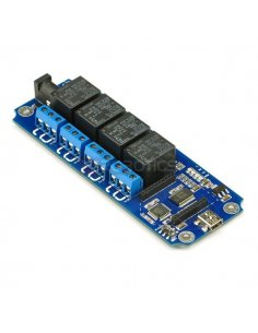 TOSR04 - 4 Channel USB/Wireless 5V Relay Module TiniSyne
