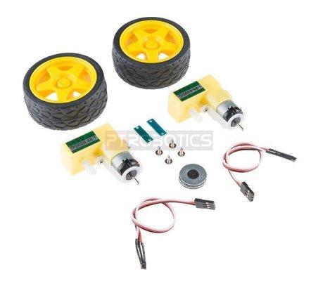 Hobby Motor and Encoder Kit   Motor DC com Engrenagens   Sparkfun