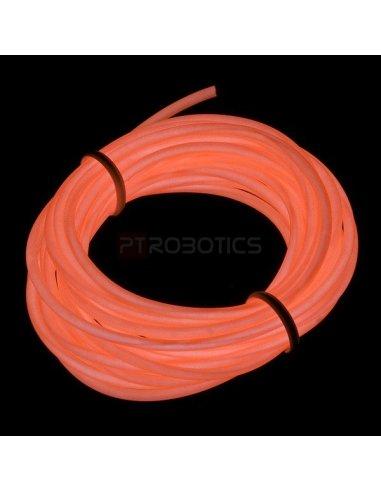 EL Wire - Orange 3m | El-Wire - Fio Electroiluminescente | Sparkfun