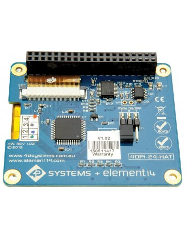 """4DPI-24-HAT 2.4"""" Primary Display HAT for the Raspberry Pi"""