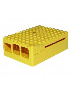 PI-BLOX ENCLOSURE, ABS, Yellow