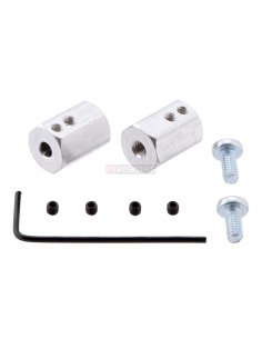 12mm Hex Wheel Adapter for 4mm Shaft (2-Pack)