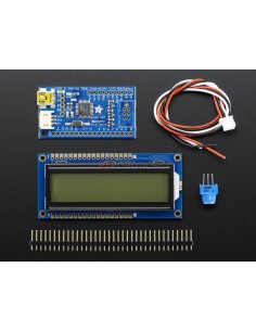 USB + Serial Backpack Kit with 16x2  RGB backlight positive LCD (Black on RGB)