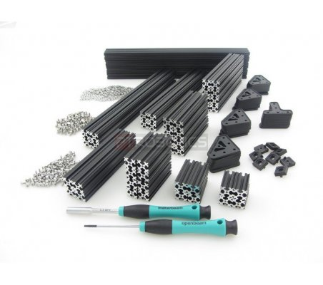 OpenBeam Precut Kit Black Anodised | OpenBeam | Openbeam