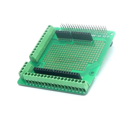 Raspberry Pi 20 pin Connector Screw Terminals Prototype Board Add-on V2.0 | HAT | Placas de Expansão Raspberry Pi | Itead