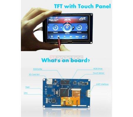 """Nextion NX4024T032 - Generic 3.2"""" HMI TFT Intelligent LCD Touch Display Module Itead"""