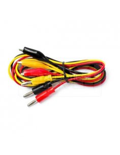 Test lead 0.8m 60VDC black, red, yellow 3x test lead