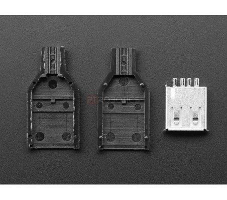 DIY Connector Shell (USB Type A - Female) Adafruit