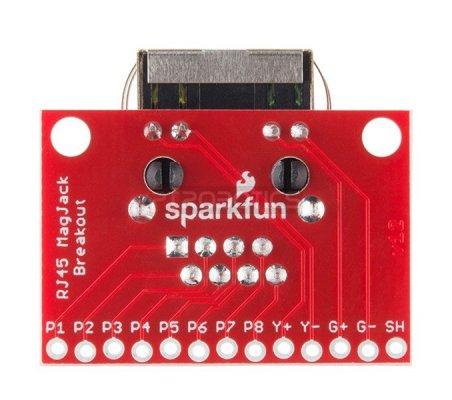 SparkFun RJ45 MagJack Breakout   Conversores   Sparkfun