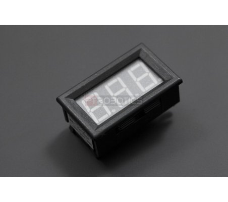 LED Current Meter 10A (Red) | Medidores de Painel | DFRobot