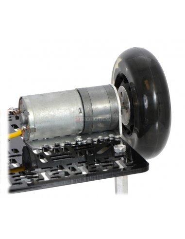 Pololu Aluminum Scooter Wheel Adapter for 4mm Shaft Pololu