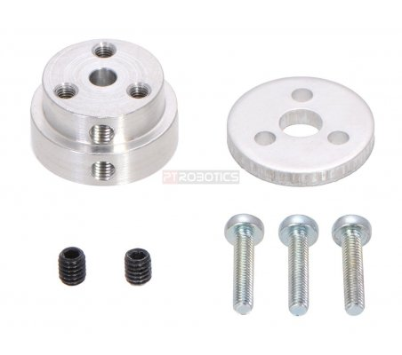 Pololu Aluminum Scooter Wheel Adapter for 6mm Shaft Pololu