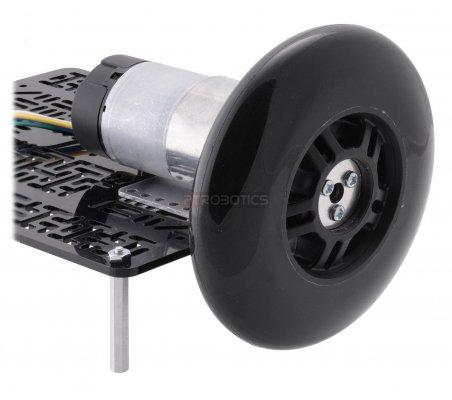 Scooter/Skate Wheel 70×25mm - Black | Rodas para Robôs | Pololu