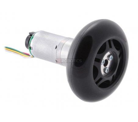 Scooter/Skate Wheel 84×24mm - Black | Rodas para Robôs | Pololu