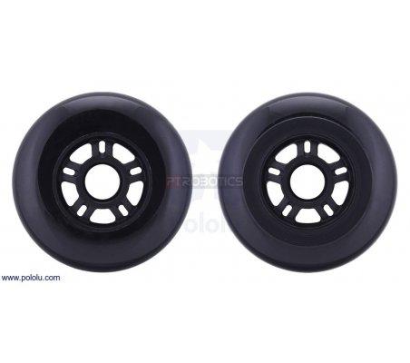 Scooter/Skate Wheel 100×24mm - Black | Rodas para Robôs | Pololu
