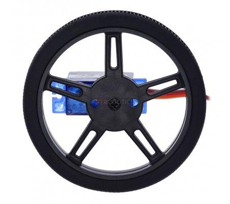 Pololu Wheel for FEETECH FS90R Micro Servo, 60×8mm Pair - Black