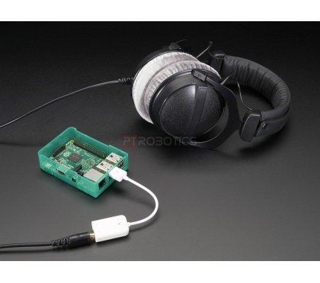 USB Audio Adapter - Works with Raspberry Pi | Cabos e adaptadores | Adafruit