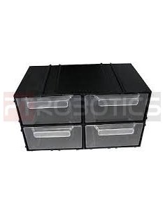 Set with 4 drawers