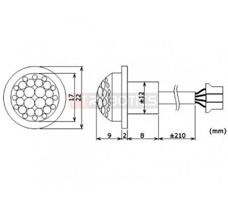Mini PIR Motion Detector 12Vdc