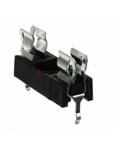 Porta Fusível Fuse Holder PCB 20mm Preto
